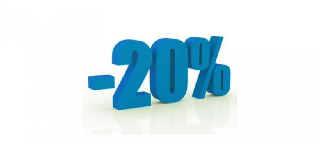 20% Sconto predisposizione